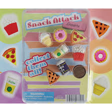 Snack Attack Vending Machine Simple Snack Attack Erasers Blister Display AA Global Industries