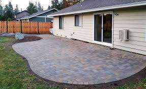 patio pavers. Perfect Patio Jamestown Blend Paver Patio With Good Neighbor Fence To Patio Pavers A
