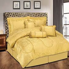7 piece quilted jacquard bedspread sets gold