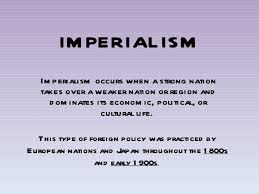 Reasons For Imperialism Causes Of Imperialism