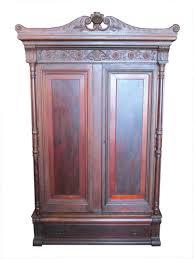 vintage antique furniture wardrobe walnut armoire. Carved Walnut Wardrobe Vintage Antique Furniture Armoire 1