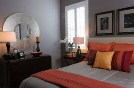 gray and orange bedroom. view in gallery warm and inviting bedroom grey with orange accents gray a