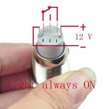 joyluxy® qn16c2 latching metal push button switch 3a 250vac 1no1nc joyluxy® qn16c2 latching metal push button switch 3a 250vac 1no1nc spdt on off industrial car switch 5 pins suitable for 16mm 5 8 mounting hole