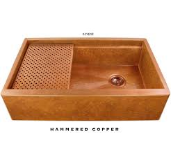 hammered copper farmhouse sink. Legacy Farmhouse Sink - Hammered Copper C