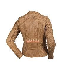 women s serendipity tan leather biker jacket women s serendipity