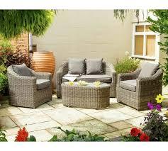 bunbury rattan garden sofa set at