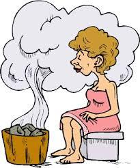 Resultado de imagen de chica en una sauna dibujo