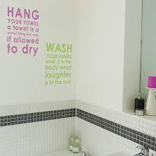 Wall Sticker Bathroom Bathroom Rules Wall Sticker By Nutmeg Notonthehighstreetcom