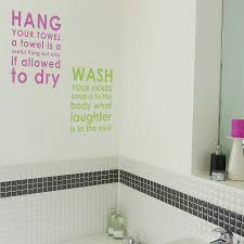 bathroom rules wall sticker