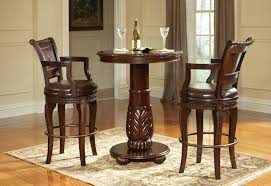 innovative small round pub table round pub table and chairs piece round bar height pub set