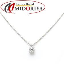 tiffany tiffany solitaire necklace diamond 0 35ct pt950 one diamond pendant 098044