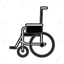 車椅子横顔医療関連アイコン画像ベクトル イラスト デザイン