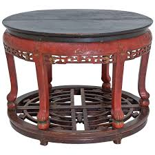 red lacquered furniture. Antique Carved Red Lacquered Chinese Center Table Or Pair Of Demilune Tables Furniture U