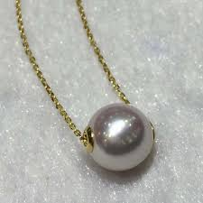 2019 outstanding single 8 5mm white japan akoya pearl one pearl necklace 16 17 inches adjustable length 18k yellow gold necklace from frenky