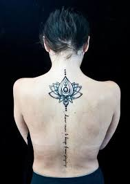 Spine Tattoos Quotes Fascinating 48 Spine Tattoo Ideas For Women Art And Design