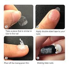 240pcs nail adhesive glue tapes nail tabs clear diy manicure decoration for fake nails tips