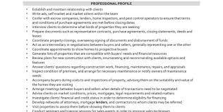 Real Estate Broker Resume Template Sample Real Estate Agent Resume