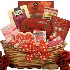 sweet love valentine s day chocolate sweets gift basket