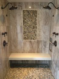 Small Picture Barrier Free shower wall tile 24 x 24 porcelain tile Pebble Mosaic