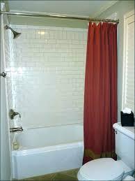 garden tub with shower curtain vs glass door bathroom doors decorating