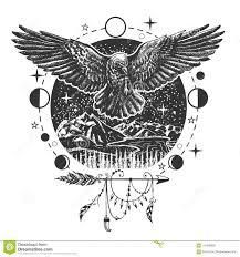 татуировка ворона вектора черные или дизайн печати футболки