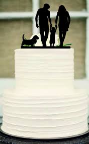 Silhouette Wedding Cake Topper Funny Wedding Cake Topperbride And