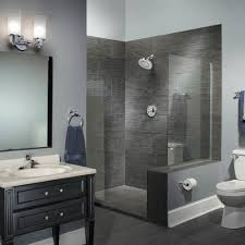 Paint Stencils For Walls Contemporary Bathroom With Black Vanity - Best paint finish for bathroom