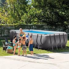 17 of 2017 s best above ground pool pumps ideas intex 18 x 9 x 52 inch ultra frame rectangular above ground swimming pool