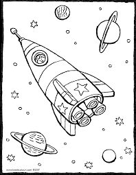 Raket In De Ruimte Kiddicolour