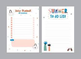 Summer Daily Schedule Template Scandinavian Weekly And Daily Planner Template Organizer And