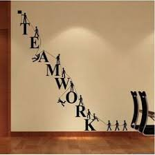 wall pictures for office. teamwork letters wall sticker removable decal vinyl novelty office decor white pictures for c