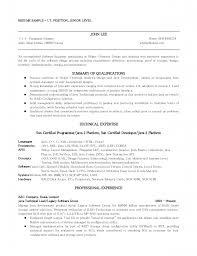 Resume Sample Traditional Resume