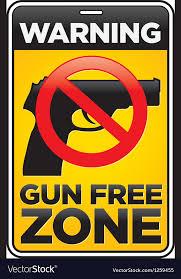 Free Sign Gun Free Zone Sign