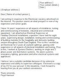 Electrician Cover Letter Electrician Cover Letter Sample Ideas