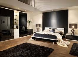 Small Picture Simple Masculine Bedroom Modern Closet Cabinet Black Fabric