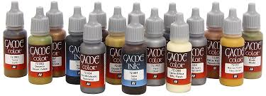 Vallejo Game Color Leather And Metal Acrylic Paint Set Assorted