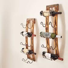... 5 Bottle Rustic Vineyard Aged Wood Slates Hanging Wine Racks For  Glasses Ideas: ...