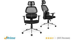 R Amazoncom Coavas Ergonomic Office Chair Mesh Computer Desk  Adjustable High Back Swivel Task Chairs With Lumbar Support Backrest Headrest Armrest And