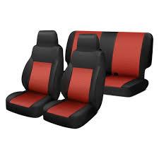neoprene 1st 2nd row black red seat
