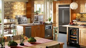 black stainless steel appliances reviews. Unique Stainless A KitchenAid Black Stainless Steel Refrigerator In A Modern Kitchen Throughout Black Stainless Steel Appliances Reviews H