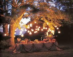 garden party lighting ideas