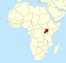 Large location map of Uganda in Africa | Uganda | Africa | Mapsland | Maps  of the World