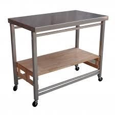 table for kitchen: medium size of mobile kitchen cart oasis concepts prep table with stainless steel top and frame
