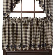 Plaid Kitchen Curtains Valances Tier Curtains Country Style Curtains