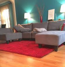 teal and red living room living room idea teal blue wall grey couch ruby red rug and decorating idea medium size teal blue and red living room