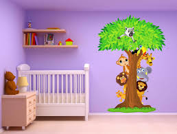 Stickers Jungle Et Savane Stickers Muraux Enfant Stickers Chambre Bebe Garcon Jungle