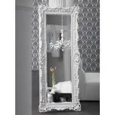 white floor mirror. Ruffle Edge Floor Mirror - High Gloss White. For My Hollywood Bedroom! White O