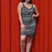 White House Black Market Womens V Neck Dress Size