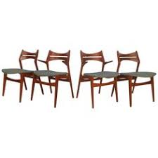 exquisite set of mid century modern eric buck style dining chairs