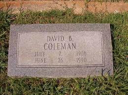 COLEMAN, DAVID B - Dallas County, Arkansas   DAVID B COLEMAN - Arkansas  Gravestone Photos